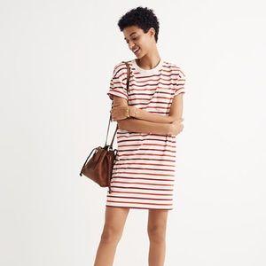 Madewell Striped Pocket Tee Dress